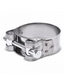 52-55mm - Collier renforcé en inox AISI 430, visserie acier pour durite silicone
