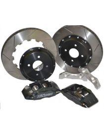 BMW E30 tous modèles Kit étriers freins avants HiSpec R114-4, disques 310mm sur bol, plaquettes Mintex 1155, flexibles aviation