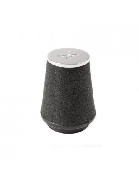 Filtre PIPERCROSS avec chapeau alu, connexion caoutchouc diametre: 75mm, diametre exterieur: 107mm, longueur: 150mm