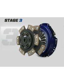 Kit embrayage renforce SPEC STAGE 3 avec disque carbone semi-metallique, reference SC033