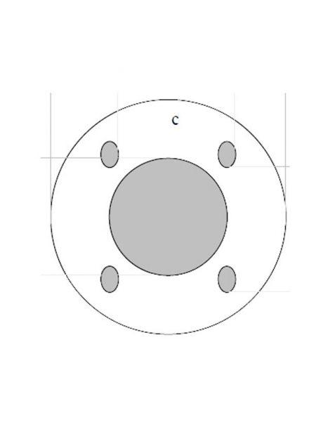 Adaptateur universel PIPERCROSS pour débimètre avec platine 81mm