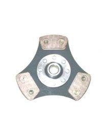 Disque embrayage renforce metal fritte rigide 3 patins SAFFA diametre 190mm, reference EMB-5079