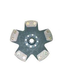 Disque embrayage renforce metal fritte rigide 5 patins SAFFA diametre 230mm, reference EMB-6072