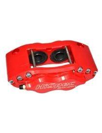Etrier HISPEC BILLET 4 pistons 38.6mm fixation radiale pour disque épaisseur 28mm diamètre 260 à 300mm, coloris ROUGE
