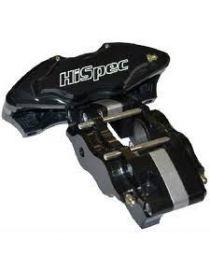 Etrier HISPEC ULTRALITE 4 pistons 34mm fixation radiale pour disque épaisseur 6mm diamètre 280 à 310mm, coloris NOIR