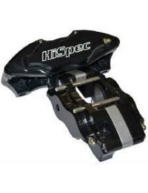 Etrier HISPEC ULTRALITE 4 pistons 34mm fixation radiale pour disque épaisseur 10mm diamètre 280 à 310mm, coloris NOIR