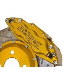 Etrier HISPEC ULTRALITE 4 pistons 34mm fixation radiale pour disque épaisseur 6mm diamètre 280 à 310mm, coloris JAUNE
