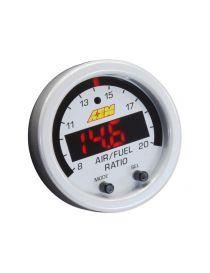 Fond blanc et cerclage gris pour manomètre large bande / AFR X-Series AEM UEGO digital