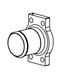 Bride d'arrivée/sortie d'eau diamètre 24mm pour échangeur eau huile LAMINOVA C43-330