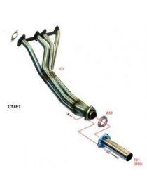 Collecteur avec tube de connexion inox RC RACING référence CE1TE1B