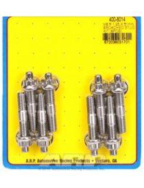 8mm x 1.25 (M8) - Kit 8 goujons renforcés ARP Stainless 300 avec écrous (12 pans) longueur 51mm