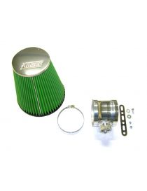 BMW M3 (E46) inclus CSL 3.2 24V S54B32 06/2000-07/2006 Kit admission GREEN AIR FILTER avec tubulure aluminium