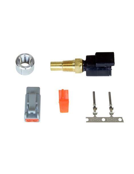 """Sonde / Capteur de température d'eau 1/8"""" NPT avec insert à souder et connecteur type DTM (étanche)"""