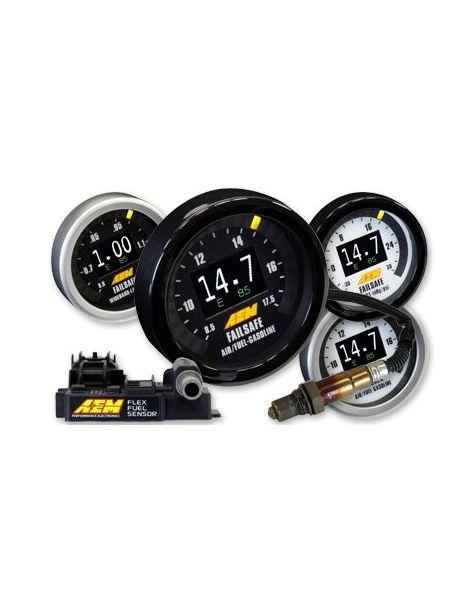 Manomètre Failsafe Large Bande / AFR, pression de turbo et FlexFuel AEM