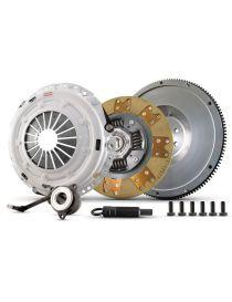 Kit embrayage renforcé CLUTCH MASTERS Série FX300 avec disque kevlar amorti et volant moteur allégé référence 02017-HDTZ-SHP