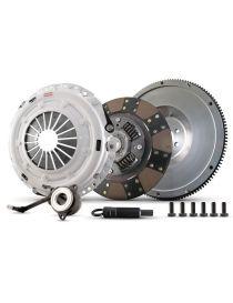 Kit embrayage renforcé CLUTCH MASTERS Série FX350 avec disque organique amorti et volant moteur allégé référence 02017-HDFF-SHP