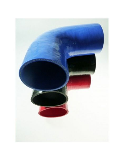57mm - Coude silicone 90° 4 plis REDOX, longueur 200mm