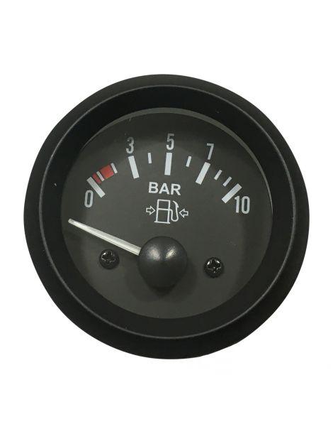 Manomètre pression essence TORR 0-10 bars fond NOIR avec sonde