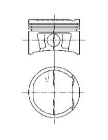 Piston KOLBENSCHMIDT pour côte 79,50mm