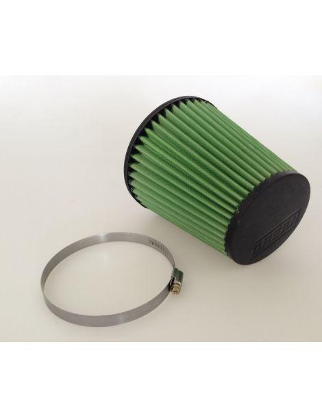 Entrée 75mm Base: 110mm Top: 75mm Hauteur: 100mm Filtre à air simple cône GREEN AIR FILTER