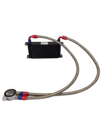 Kit radiateur huile matrice 235mm 19 rangées BREEZY DASH10, plaque thermostatique MOCAL 99°C