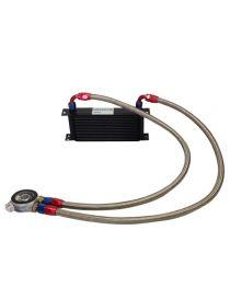 Kit radiateur huile matrice 235mm 16 rangées BREEZY DASH10, plaque thermostatique MOCAL 85°C