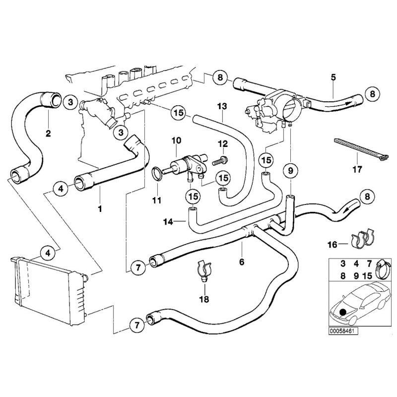 Kit 9 Durites Eau Silicone Redox Pour Bmw Srie 3 E36 Moteur 2 5