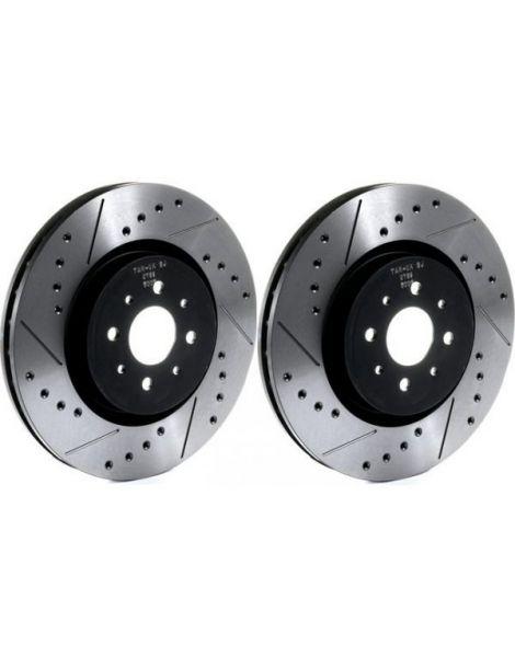 Disques de freins TAROX 280x10mm rainurés/percés référence TA-2407-SJ (LA PAIRE)