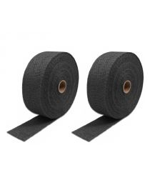 Pack 2 rubans isolant thermique graphité NOIR COOL IT pour échappement, largeur 50.8mm, longueur 15.2M