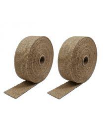 Pack 2 rubans isolant thermique NATUREL COOL IT pour échappement, largeur 50.8mm, longueur 15.2M