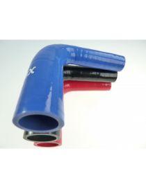 57-60mm - Réducteur silicone 90° 3 plis REDOX, longueur 125mm