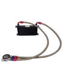 Kit radiateur huile matrice 235mm 19 rangées BREEZY DASH10, plaque thermostatique MOCAL 85°C