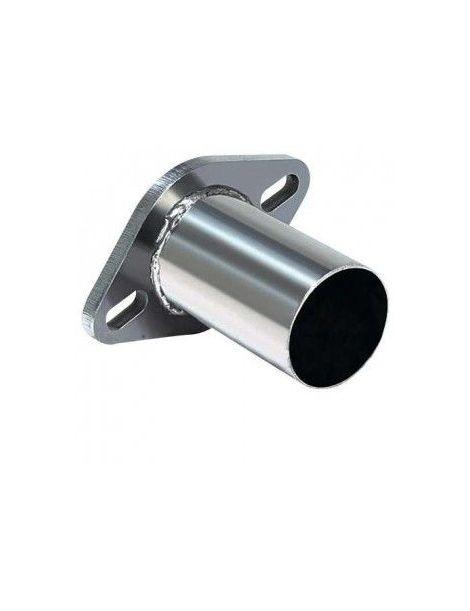 Bride inox 2 vis entraxe 96mm avec tube de connexion diamètre extérieur 60mm