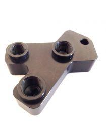 Connecteur aluminium 3 voies 2 taraudages M12x100 et 1 taraudage M10x100