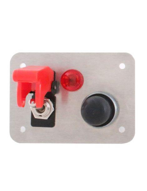 platine de d marrage en aluminium pr assembl e avec 1 bouton poussoir 1 interrupteur avec. Black Bedroom Furniture Sets. Home Design Ideas