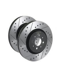 Disques de frein avant TAROX rainurés/percés 312x28mm pour RENAULT Megane 2 RS 2.0 16V Turbo F4R 05/2004-10/2009