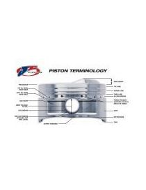 RENAULT 1.8 16V FP Kit 4 pistons forgés JE Pistons RV 10:1