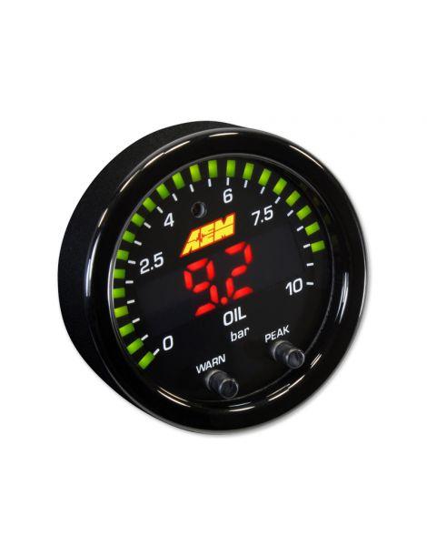 Manomètre AEM X-Series pression essence/huile 0-10 bars