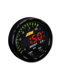 Manomètre pression turbo -1/+2.5 bars X-Series AEM avec fonction boost controller digital