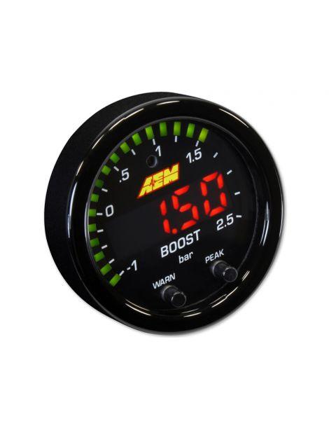 Manomètre pression turbo X-Series AEM avec fonction boost controller