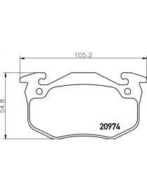 Plaquettes de frein MINTEX M1155 référence MDB1339 (le jeu)