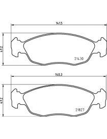 Plaquettes de frein MINTEX M1144 référence MDB1808 (le jeu)
