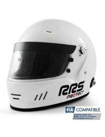 Casque intégral RRS Protect circuit Blanc, homologué FIA 8859-2015