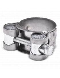 26-28mm - Collier renforcé en inox AISI 430, visserie acier pour durite silicone