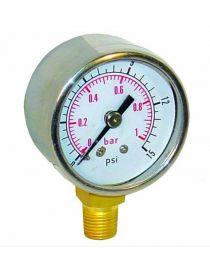 Manomètre pression essence glycérine basse pression (1 bar)