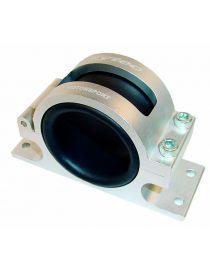 Support / fixation alu + mousse pour pompe / filtre à essence externe, coloris ARGENT
