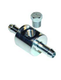 """Adaptateur / té de dérivation 8mm pour sonde pression essence avec taraudage 1/8"""" NPT"""