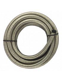 DASH 6 / AN 6 Durite renforcée essence, huile, eau avec tressage inox Série 200, longueur 3M