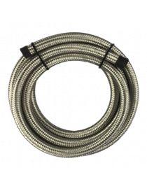 DASH 6 / AN 6 Durite renforcée essence, huile, eau avec tressage inox type Série 200, longueur 4M
