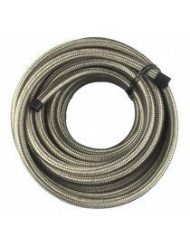 DASH 6 / AN 6 Durite renforcée essence, huile, eau avec tressage inox Série 200, longueur 10M